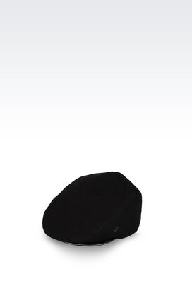 Armani Hats Men peasant's cap in cotton