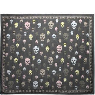 ALEXANDER MCQUEEN, Silk Scarf, Multicoloured Skull Scarf