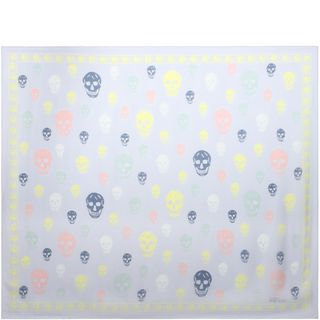 ALEXANDER MCQUEEN, Silk Scarf, Multicolored Skull Scarf
