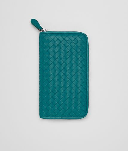 ZIP AROUND WALLET IN CANARD INTRECCIATO NAPPA