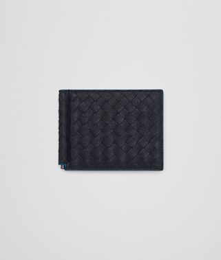 WALLET IN NEW DARK NAVY BLUETTE INTRECCIATO CALF