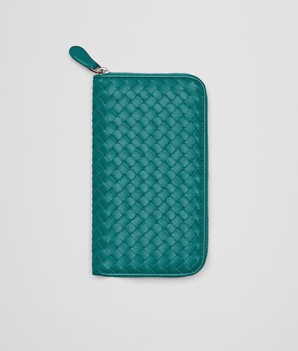 ZIP AROUND WALLET IN CANARD INTRECCIATO VN