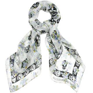 ALEXANDER MCQUEEN, Silk Fashion Scarf, Ramage Multi Skull Scarf