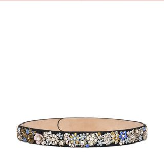 ALEXANDER MCQUEEN, Belt, Embroidered Snap Belt