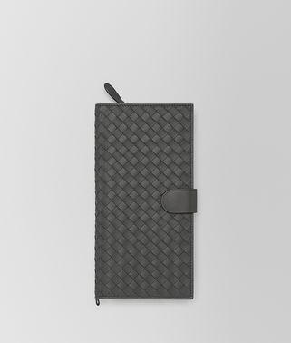 DOCUMENT CASE IN NEW LI8GHT GREY INTRECCIATO NAPPA