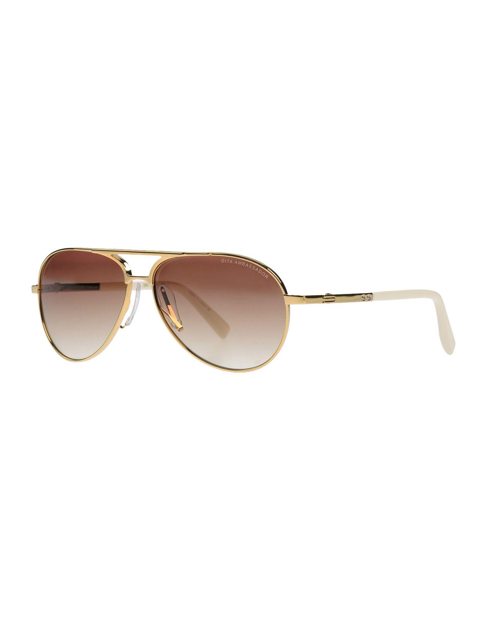 DITA Herren Sonnenbrille Farbe Gold Größe 1