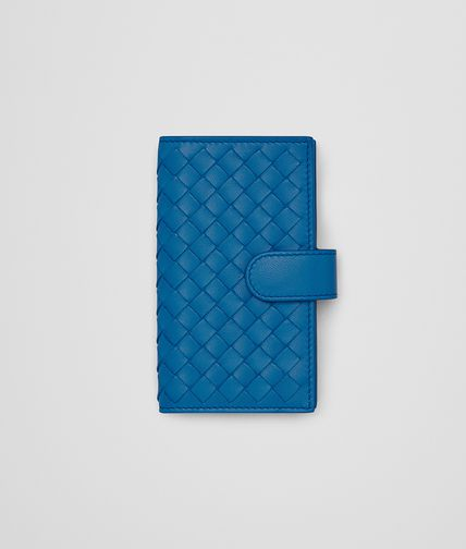 KEY CASE IN BLUETTE INTRECCIATO NAPPA