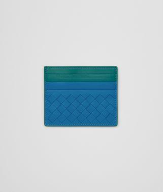 CARD CASE IN BLUETTE CANARD INTRECCIATO NAPPA