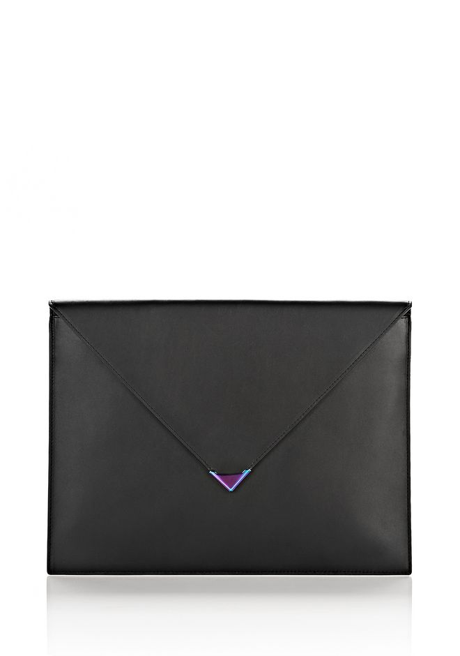 ALEXANDER WANG slgsccwp EXCLUSIVE PRISMA A4 POUCH IN BLACK