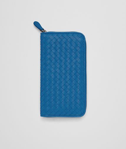 DOCUMENT CASE IN BLUETTE INTRECCIATO LAMBSKIN