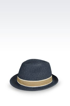 Armani Hats Men classic narrow-brimmed hat