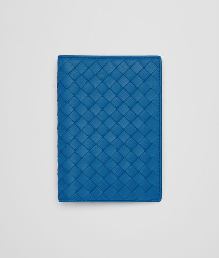PASSPORT CASE IN BLUETTE INTRECCIATO NAPPA