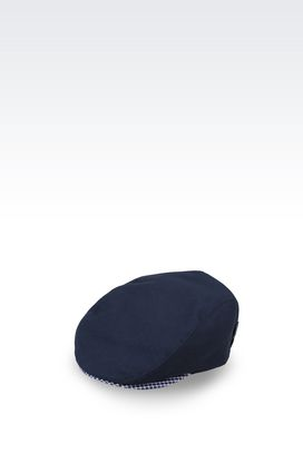Armani Hats Men peasant's cap in canvas