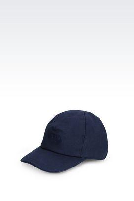Armani Hats with visor Men canvas baseball cap