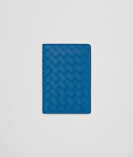 CARD CASE IN BLUETTE INTRECCIATO NAPPA