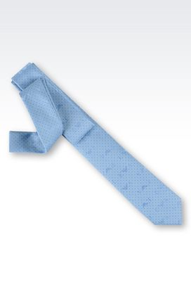 Armani Ties Men tie in micro patterned silk