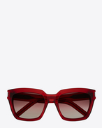 BOLD 1 Sunglasses in Shiny Transparent Burgundy Acetate with Burgundy Gradient Lenses