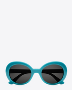 NEW WAVE 98 CALIFORNIA Sunglasses in Shiny Turquoise Acetate with Smoke Lenses