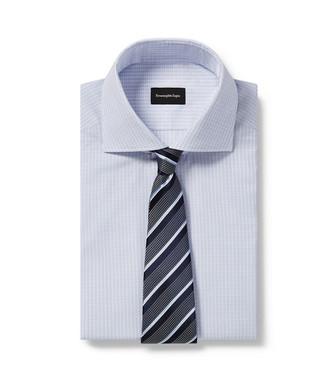 ERMENEGILDO ZEGNA: Cravate Bleu - 46434500WJ