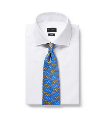 ERMENEGILDO ZEGNA: Cravate Bleu d'azur - 46434504EP