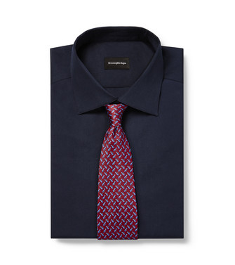 ERMENEGILDO ZEGNA: Cravate Bordeaux - 46434507IM