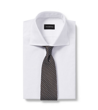 ERMENEGILDO ZEGNA: Tie Dark brown - 46434511LM