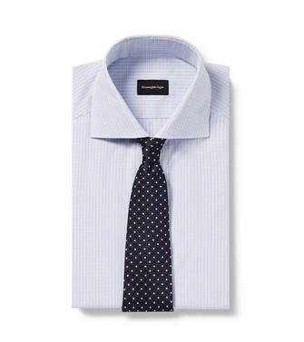 ERMENEGILDO ZEGNA: Cravate Bleu - 46434512UR
