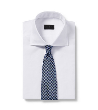 ERMENEGILDO ZEGNA: Cravate Bleu ciel - 46434519DD