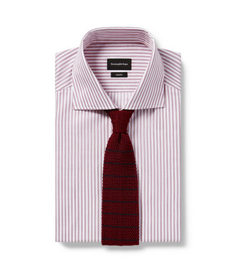 ERMENEGILDO ZEGNA: Cravate Bordeaux - 46434522AI