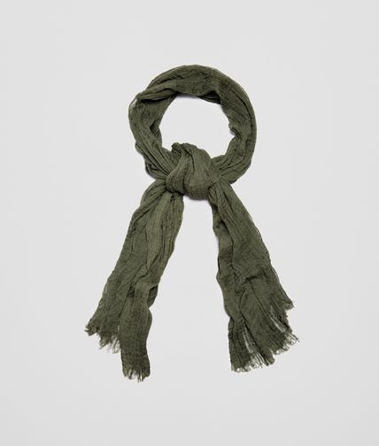 SCARF IN OLIVE COTTON