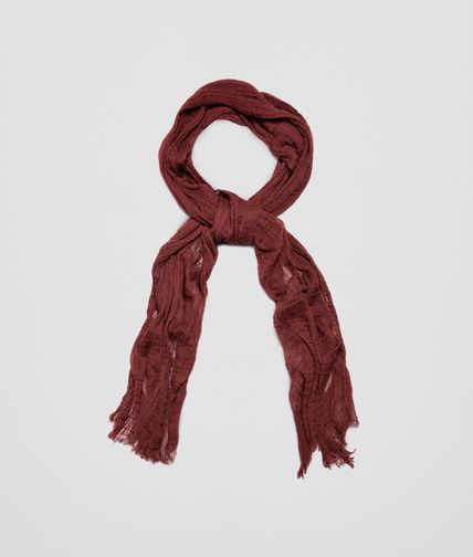 SCARF IN BORDEAUX COTTON