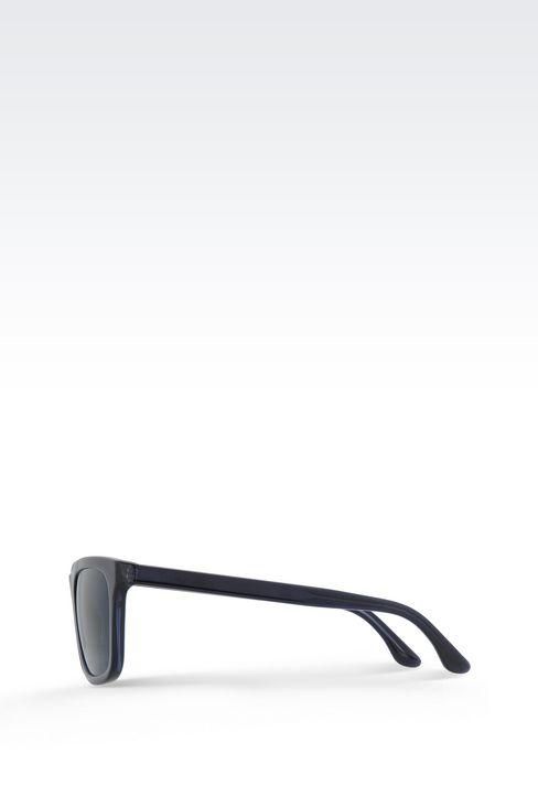 ACETATE SUNGLASSES WITH SQUARE LENSES: sunglasses Men by Armani - 3