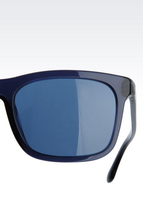 ACETATE SUNGLASSES WITH SQUARE LENSES: sunglasses Men by Armani - 4