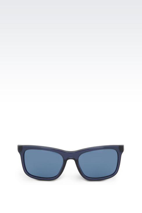 ACETATE SUNGLASSES WITH SQUARE LENSES: sunglasses Men by Armani - 1