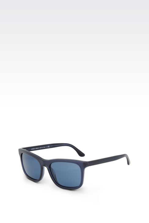 ACETATE SUNGLASSES WITH SQUARE LENSES: sunglasses Men by Armani - 2