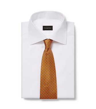 ERMENEGILDO ZEGNA: Tie Orange - 46435062NM