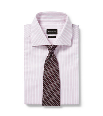 ERMENEGILDO ZEGNA: Cravate Bordeaux - 46435064QX