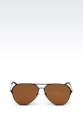 Armani sun glasses Men metallic pilot sunglasses