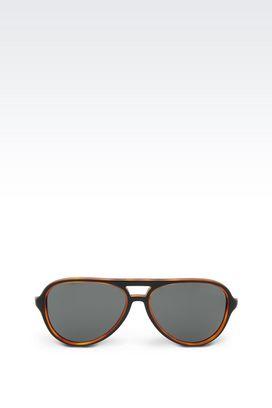 Armani sun glasses Men acetate pilot sunglasses