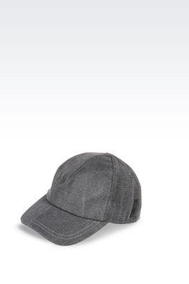Armani Hats Men baseball cap vintage effect