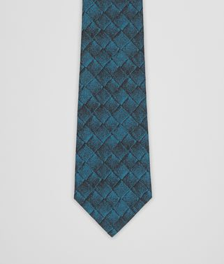 TIE IN PETROLEUM BLUE BLACK SILK
