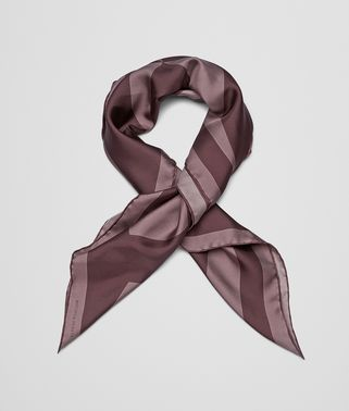 FOULARD IN GRAPHITE DARK BROWN SILK