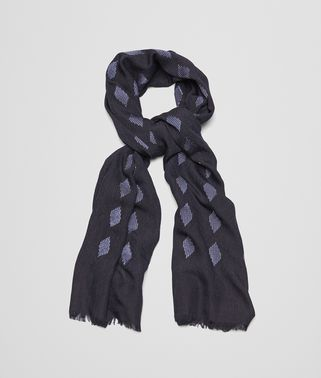 SCARF IN MIDNIGHT BLUE BLUE SILK AND VISCOSE