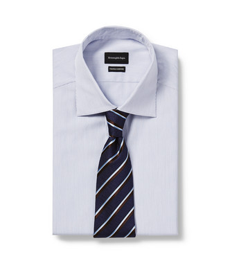 ERMENEGILDO ZEGNA: Cravate Bleu ciel - 46435879WO