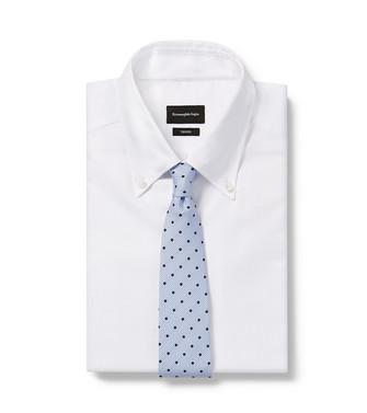 ERMENEGILDO ZEGNA: Cravate Bleu ciel - 46435906VW