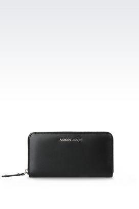 Armani Wallets Women zip-around wallet in faux leather