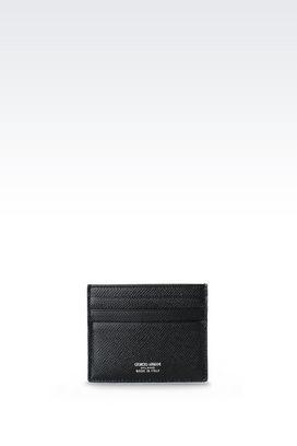 Armani Card holders Women credit card holder in printed calfskin