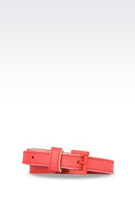 Armani Leather belts Women belt in printed calfskin