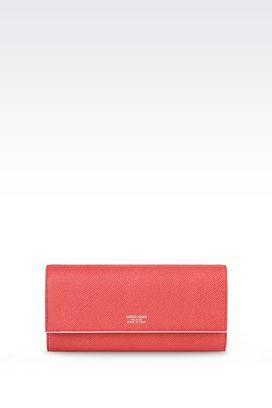 Armani Wallets Women button wallet in printed calfskin