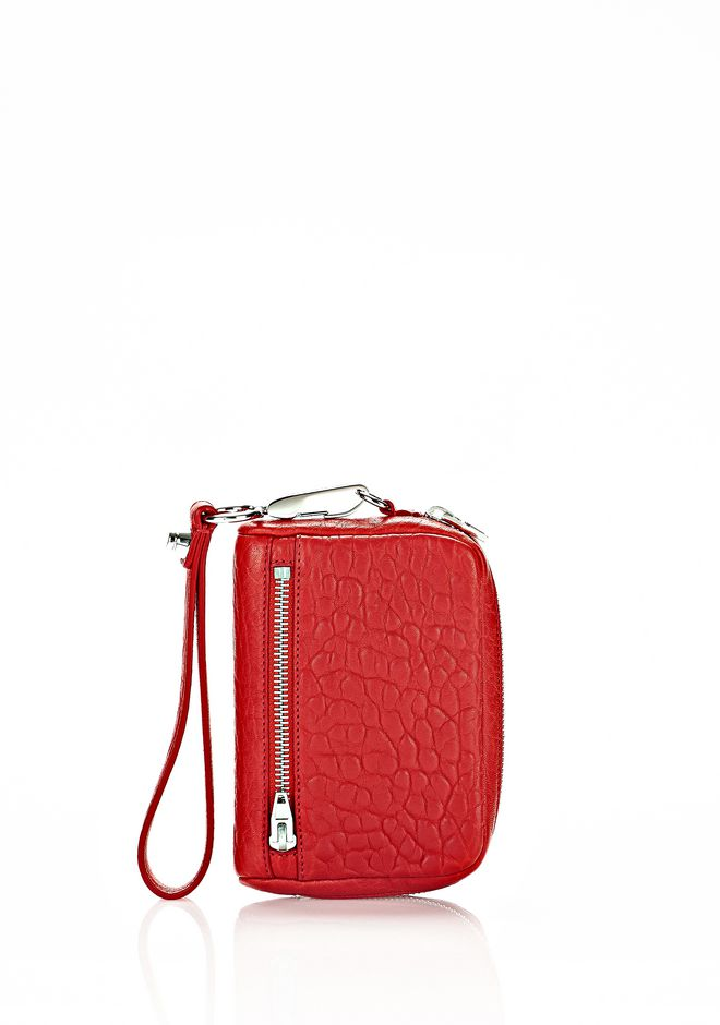 ALEXANDER WANG accessories LARGE FUMO WALLET IN PEBBLED CULT WITH RHODIUM